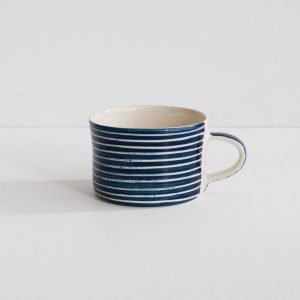 Product image of blue sgrafitto coffee mug